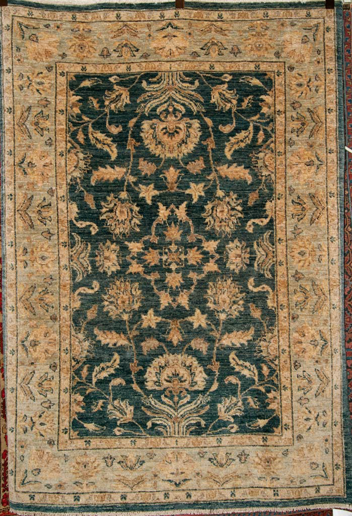 """Fine Ziegler co light Oushak Rug is a very beautiful example of the masterful Turkish classical weaving. These """"sampler"""" rugs were used to show potential"""