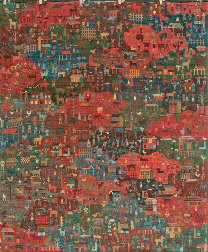 Tibetan village rug santa barbara design center rugs and more oriental carpet