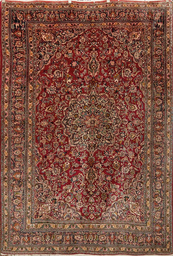 Semi Antique Mashad Rugs and more oriental carpet 35709-
