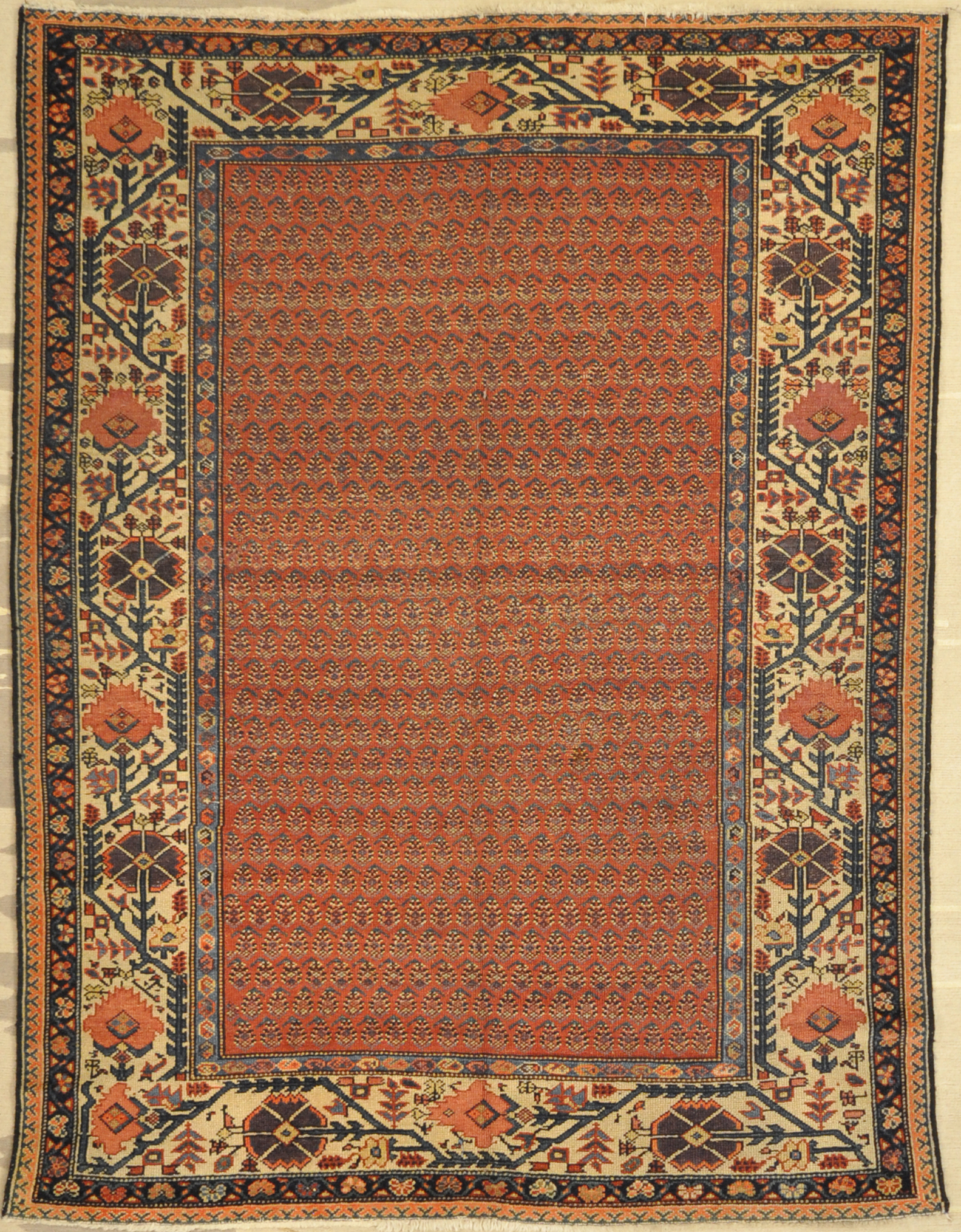 Antique Mishen Malayer Rug Santa Barbara Design center