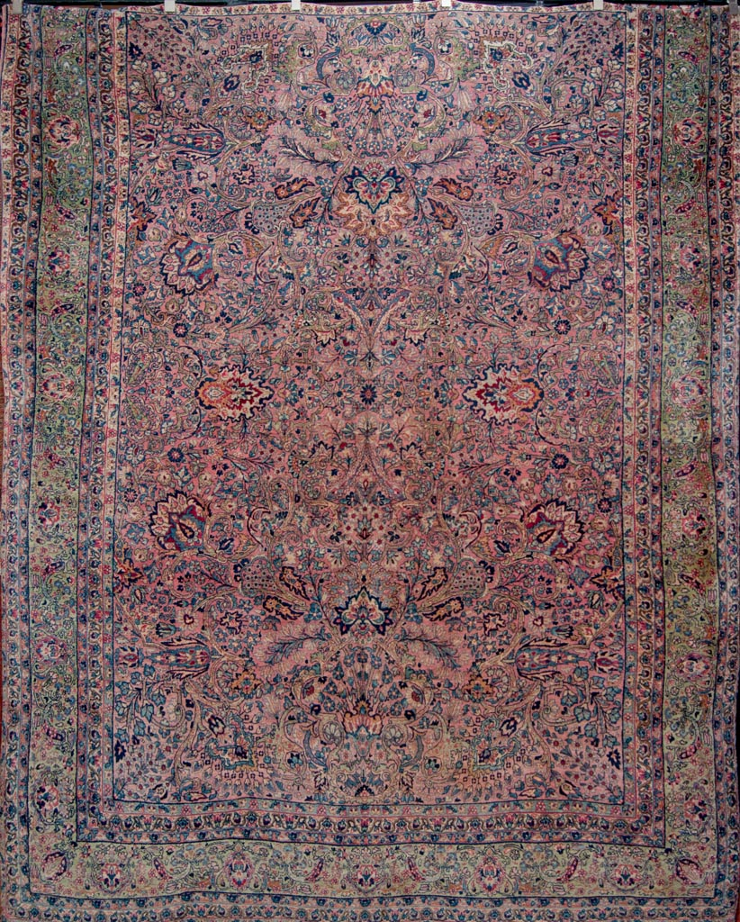 Antique Lavar Kerman Persian Rug