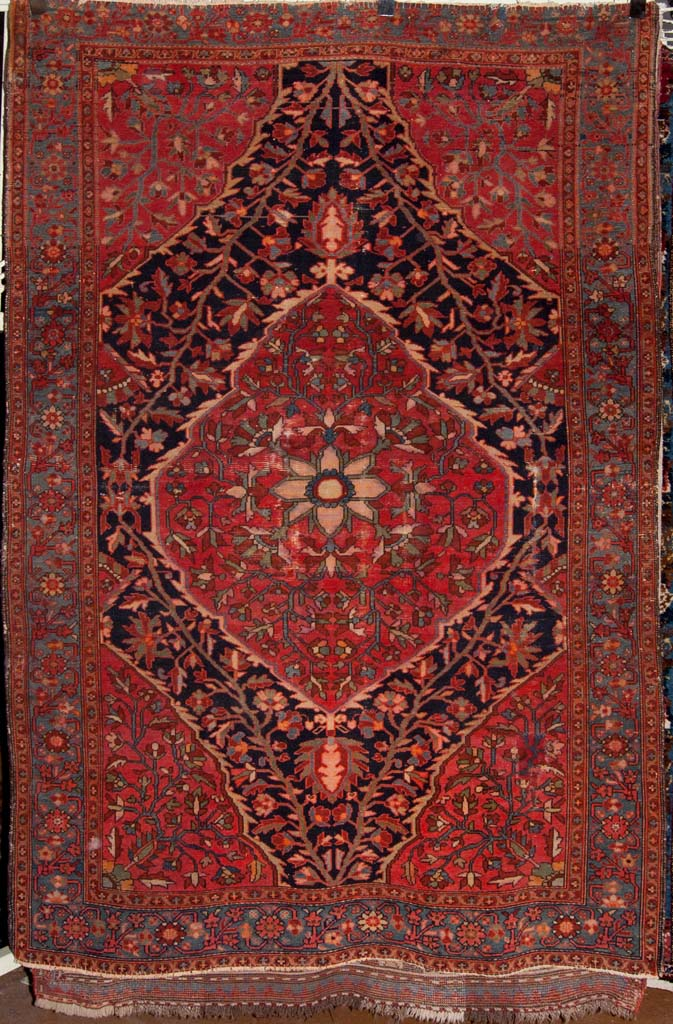 Antique Mishen Malayer Persian Rug