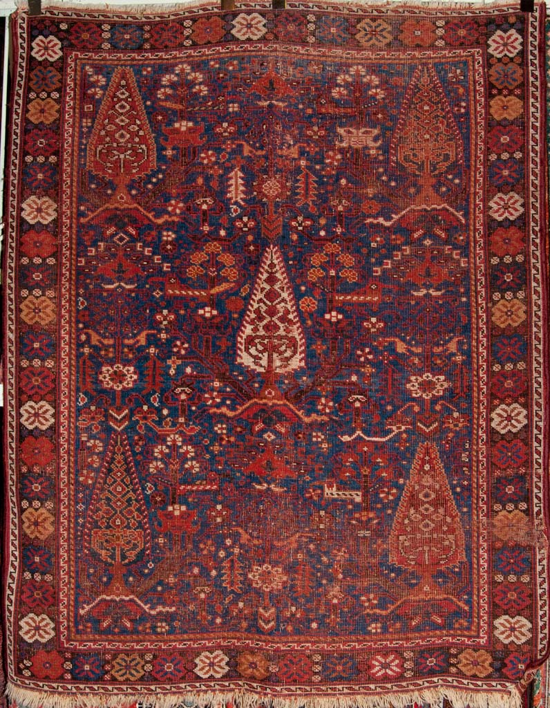 Antique South West Persian Cypress Afshar Rug ca 1880 Genuine Authentic Woven Carpet Art Santa Barbara Design Center Rugs and More