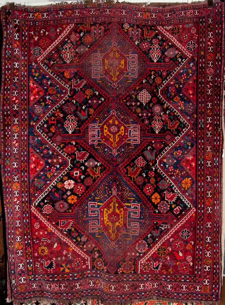 Antique Qashqai Persian Rug