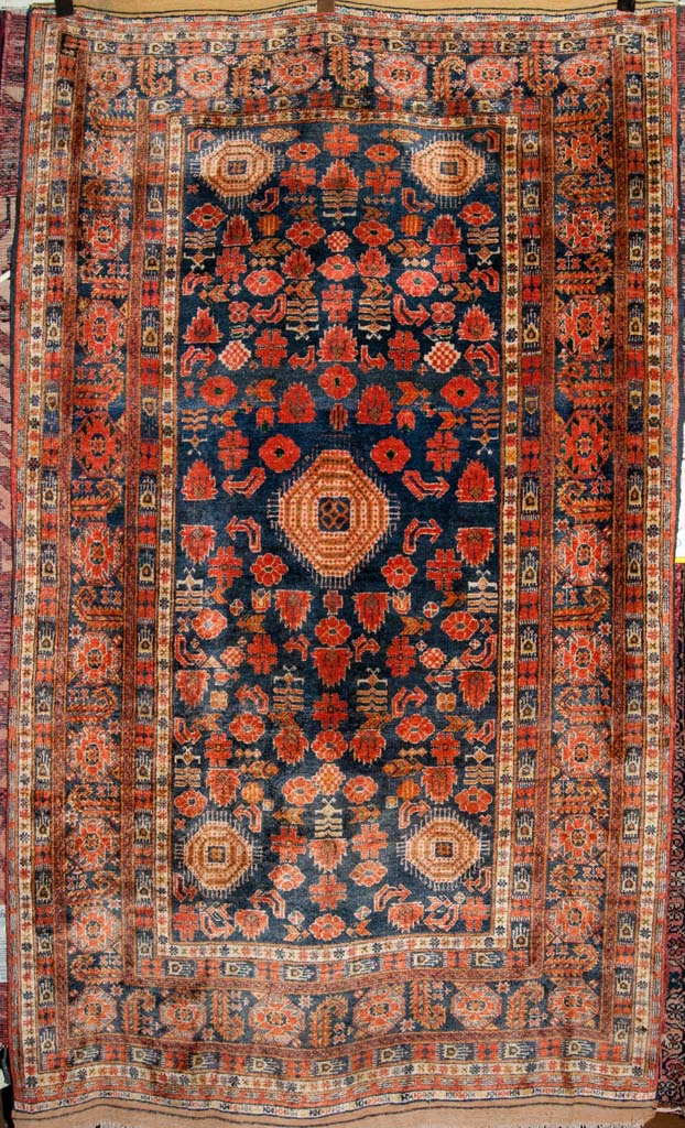 Rare Older Tribal Silk Persian Rug