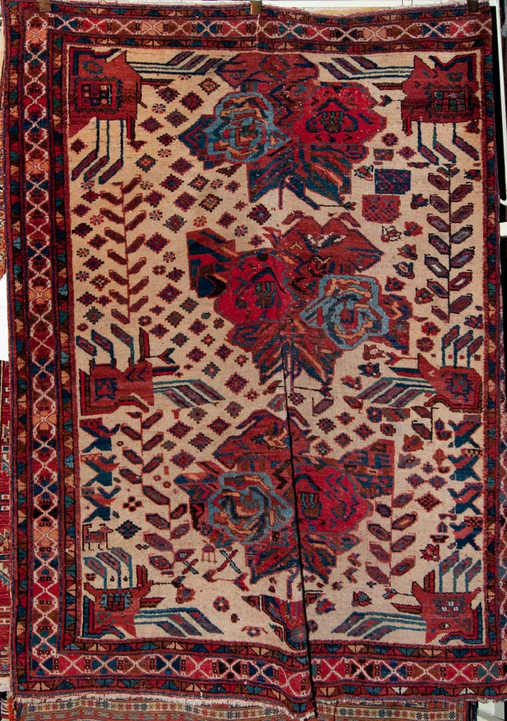 Antique Afshar Persian Rug