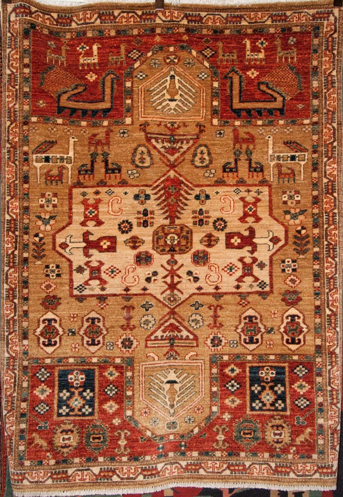 Fine Animal Shirvan Caucasian Rug