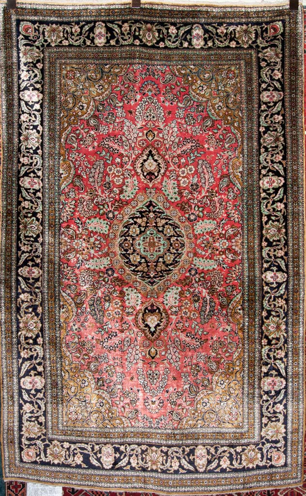Fine Original Qum Silk Persian Rug