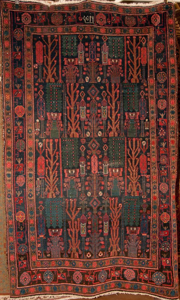 Antique Bakhtiari rug Persian Rug