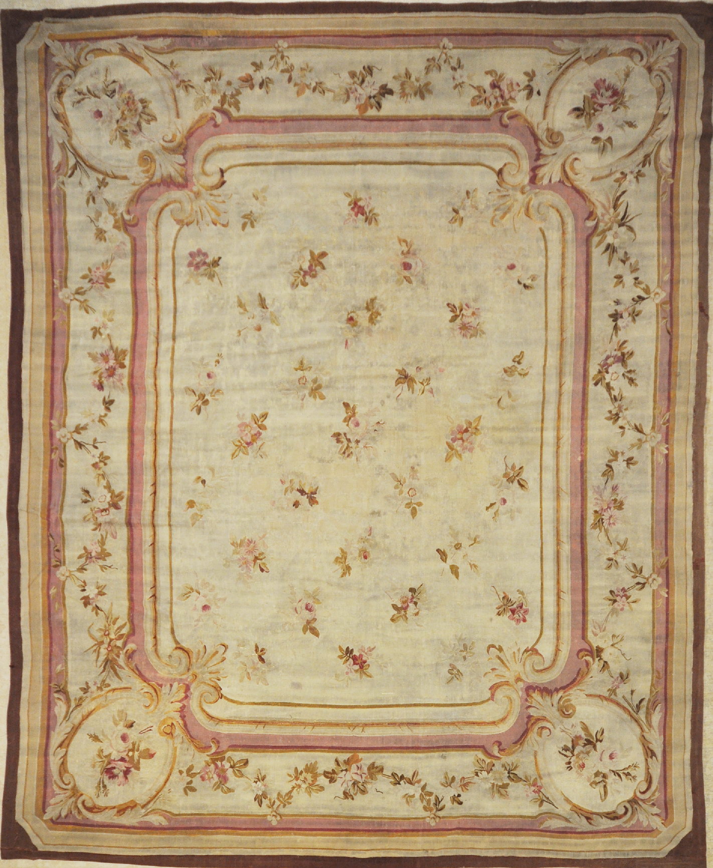 Antique French Aubusson Rug Rugs And More Santa Barbara
