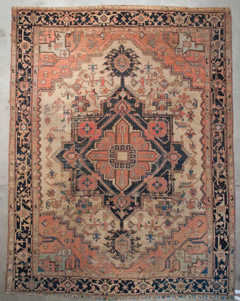 Rare Antique Serapi Rug
