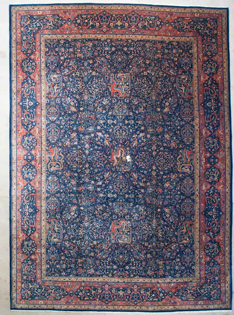Antique Indo Agra Rug