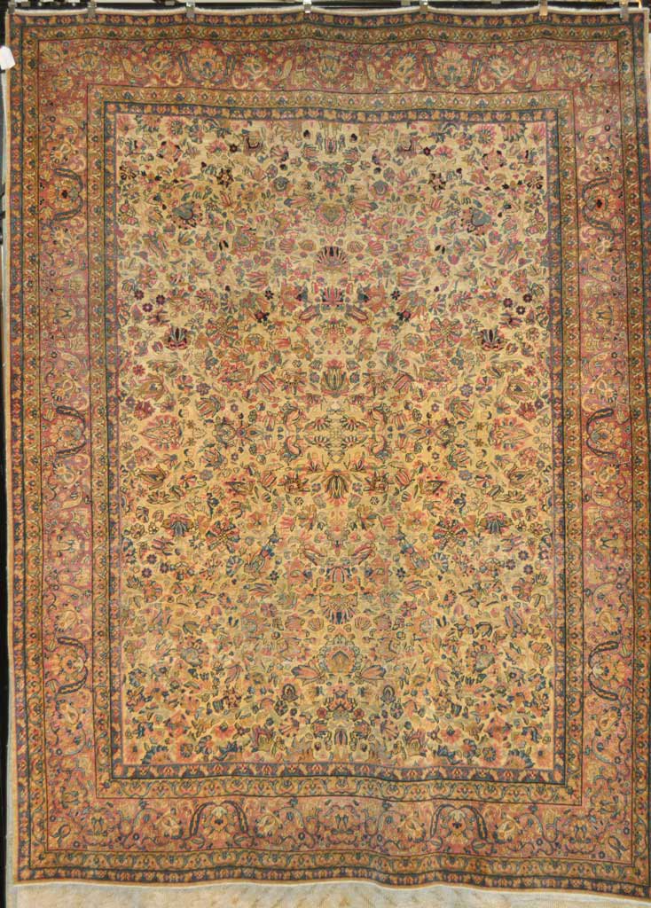Fine Antique Kerman Rug santa barbara design center-1