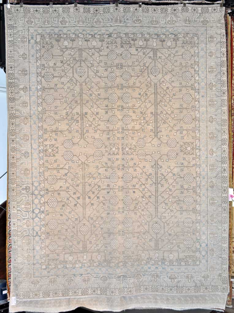 Fine Antiqued Khotan Rug