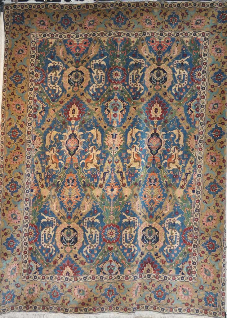 Antique Dragon Tabriz Rug