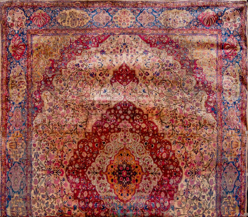 Kashan Antique Silk Persian rug