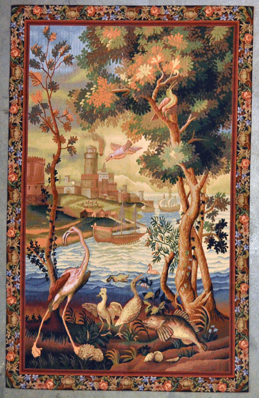 Scenic Needlepoint tapestry