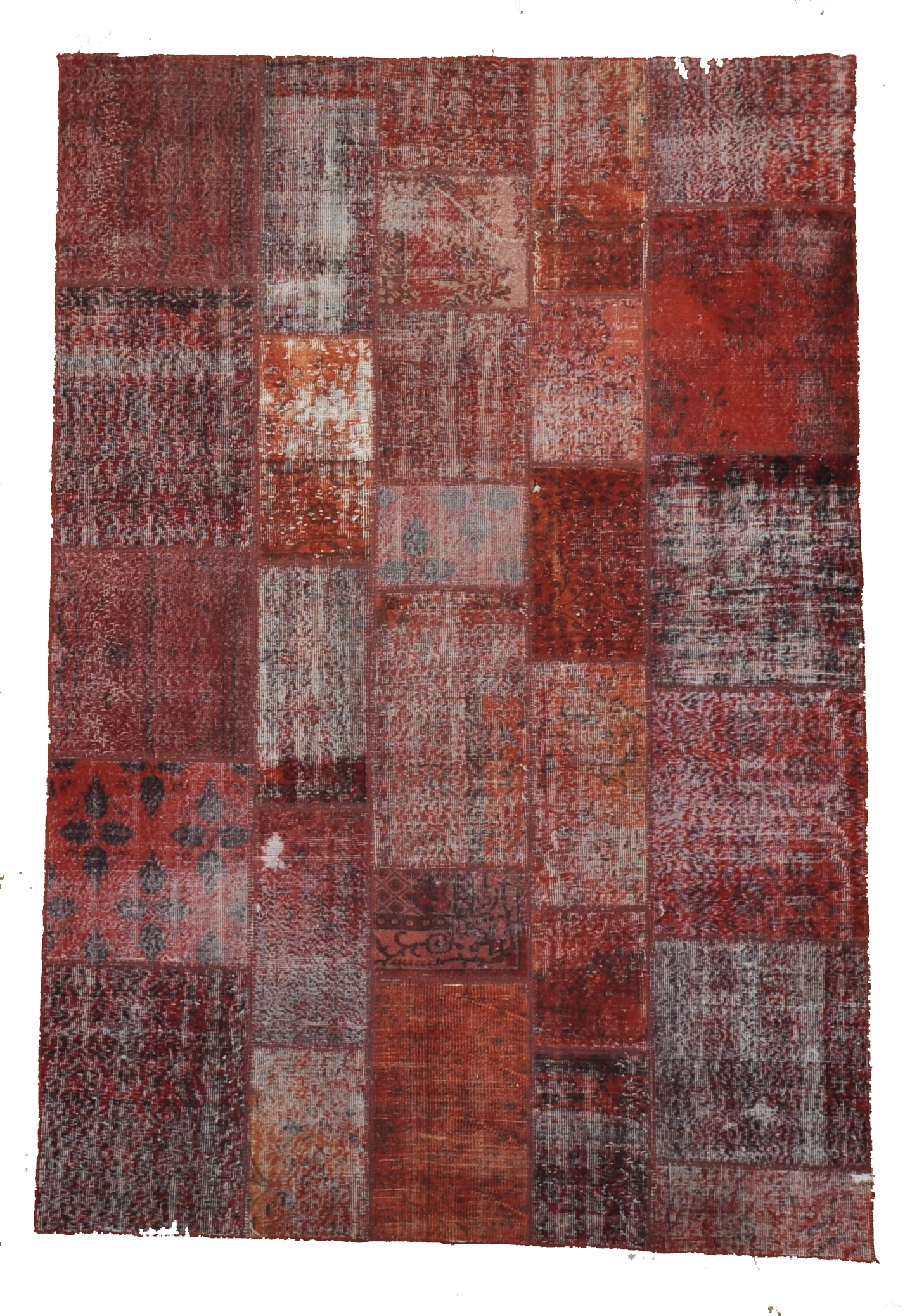 Patchwork D. Red