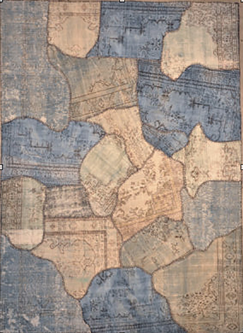 Patchwork Blue rugs and more oriental carpet 27595-