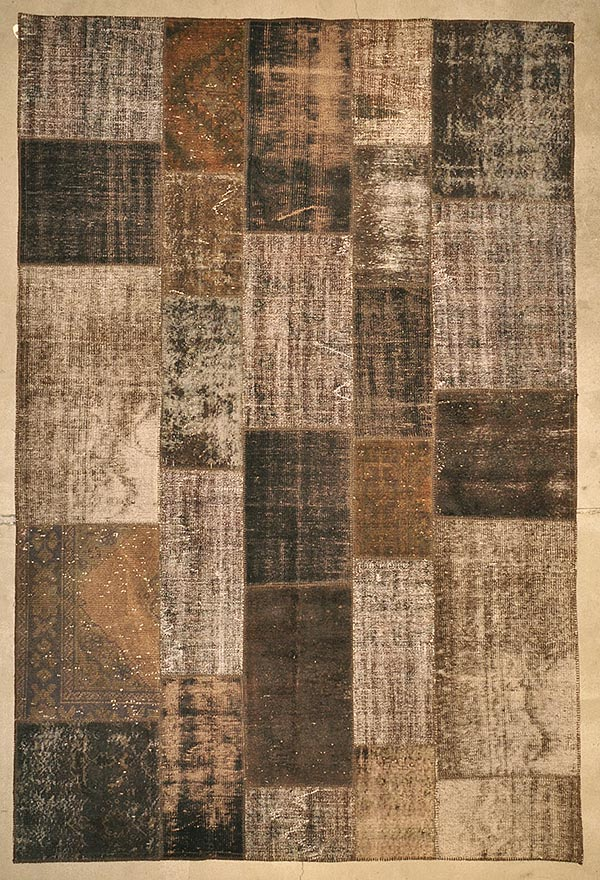 Patchwork D.Brown rugs and more oriental carpet 27613-