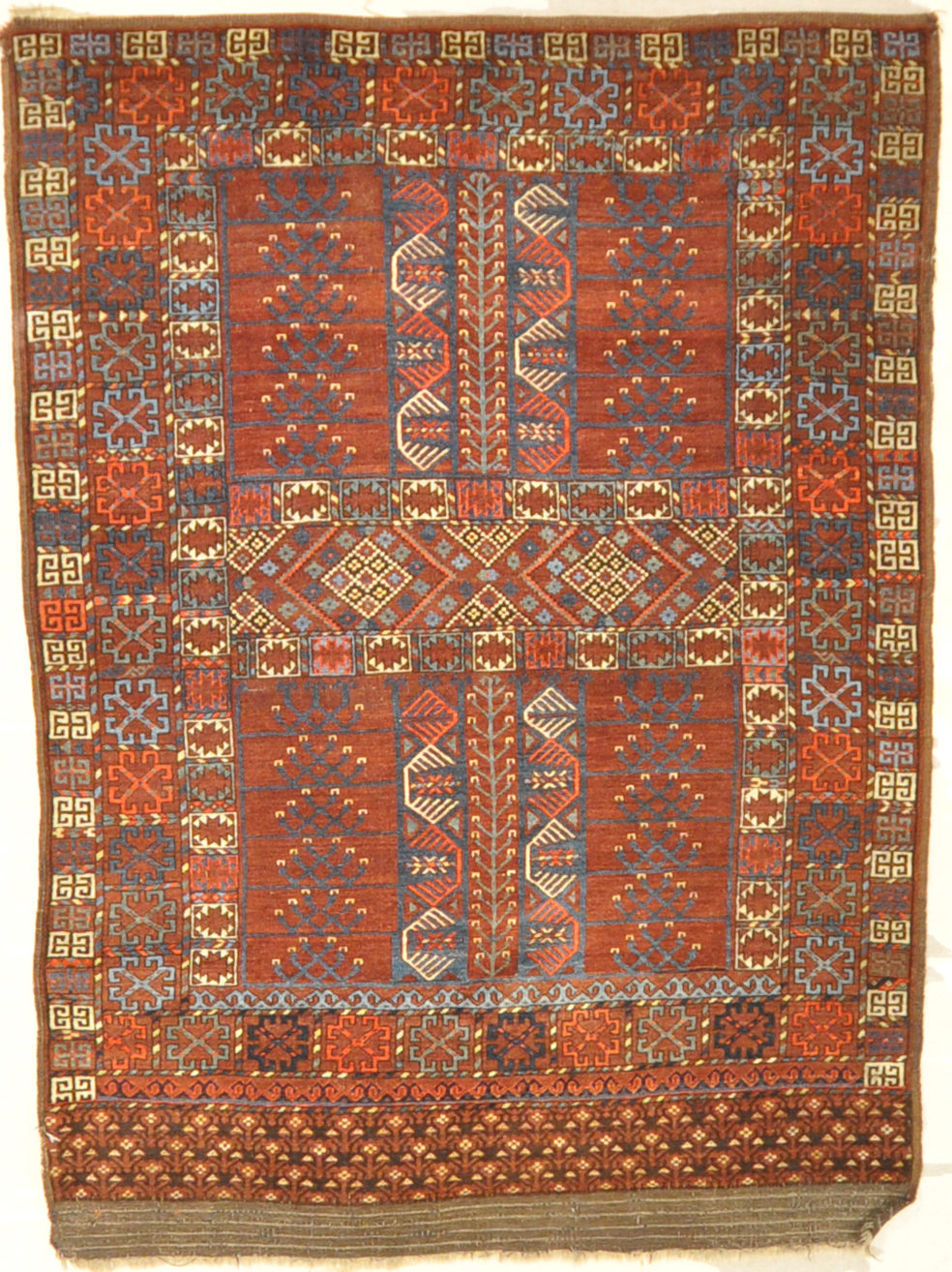 Fine Ersari Ensi Turkoman Antique rug santa barbara design center 27638
