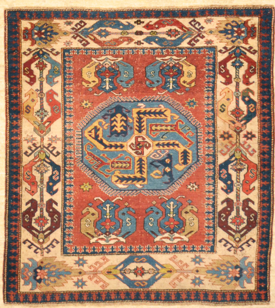 Important Rare (17th. 18th.) Century exemplary Caucasian Rug ( Shirvan Area ) rugs and more santa barbara design center