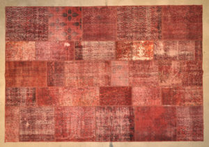 Patchwork Vintage Rug - D. Red
