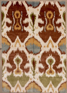 Silk Ikat rugs and more oriental carpet 28190-1