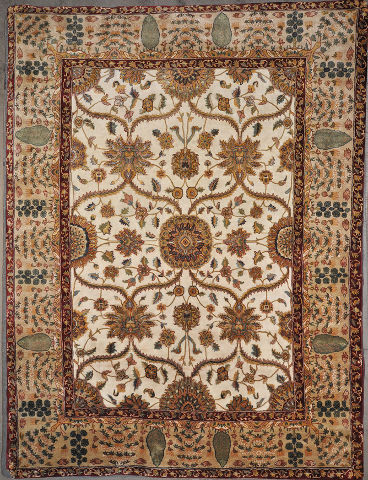 Finest Silk Mughal rugs and more oriental carpet 28398-