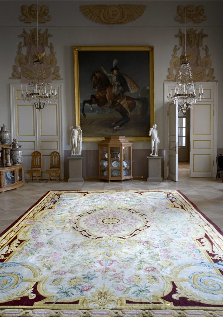 Savonnerie rug in home