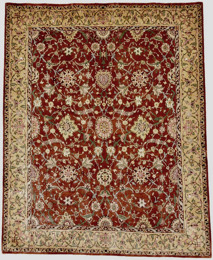 Finest Mughal Silk rugs and more oriental carpet 28608-