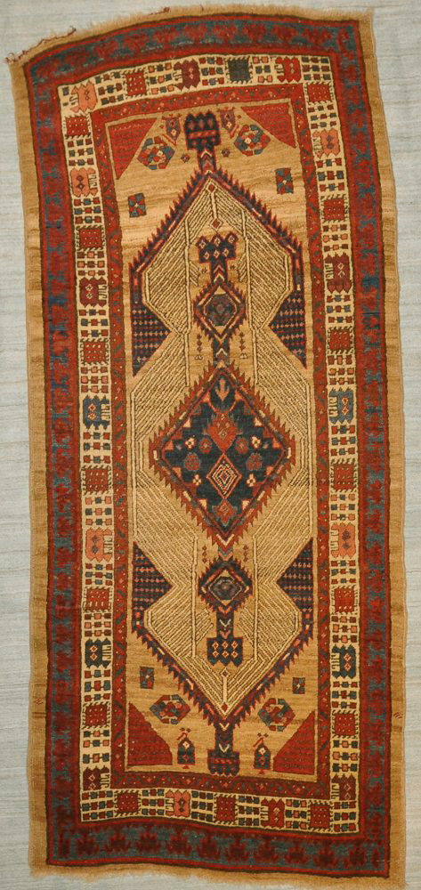 Antique Sarab camel hair collectable rug 28910-