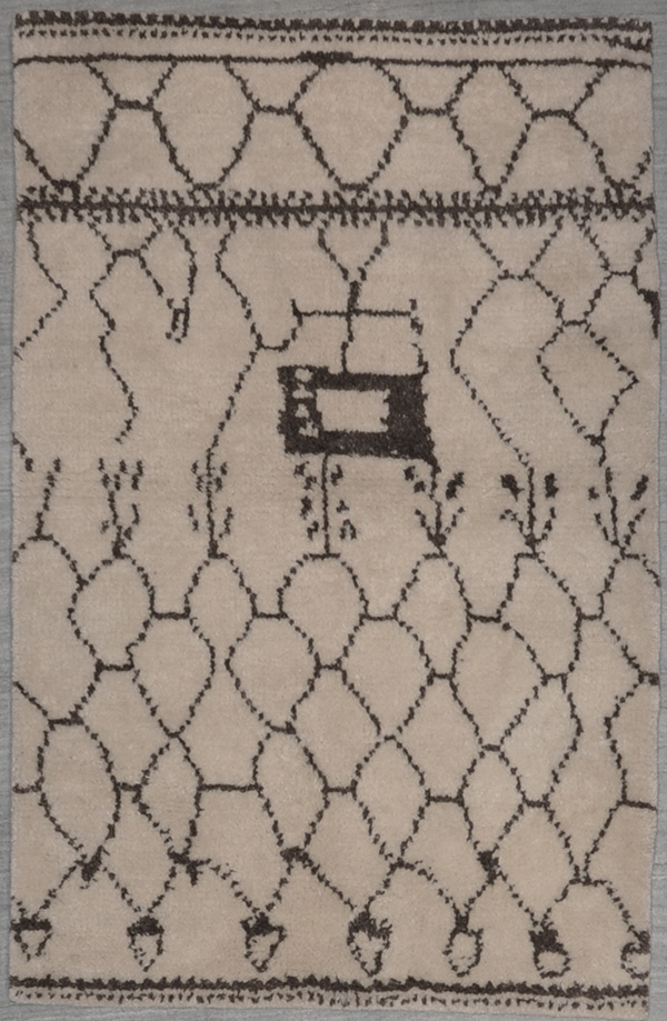 Moroccan Ivory rugs and more oriental carpet 29051-