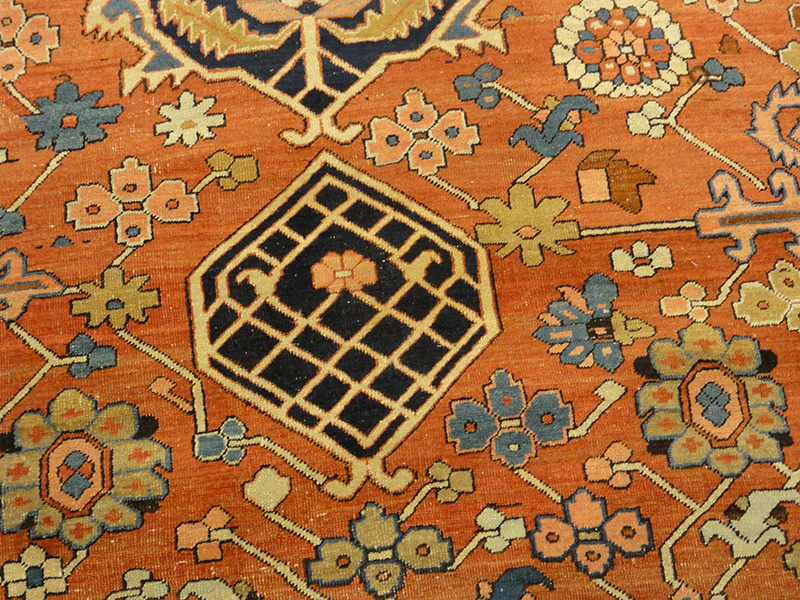 Antique Serapi Rug Of Majestic Proportions And Design