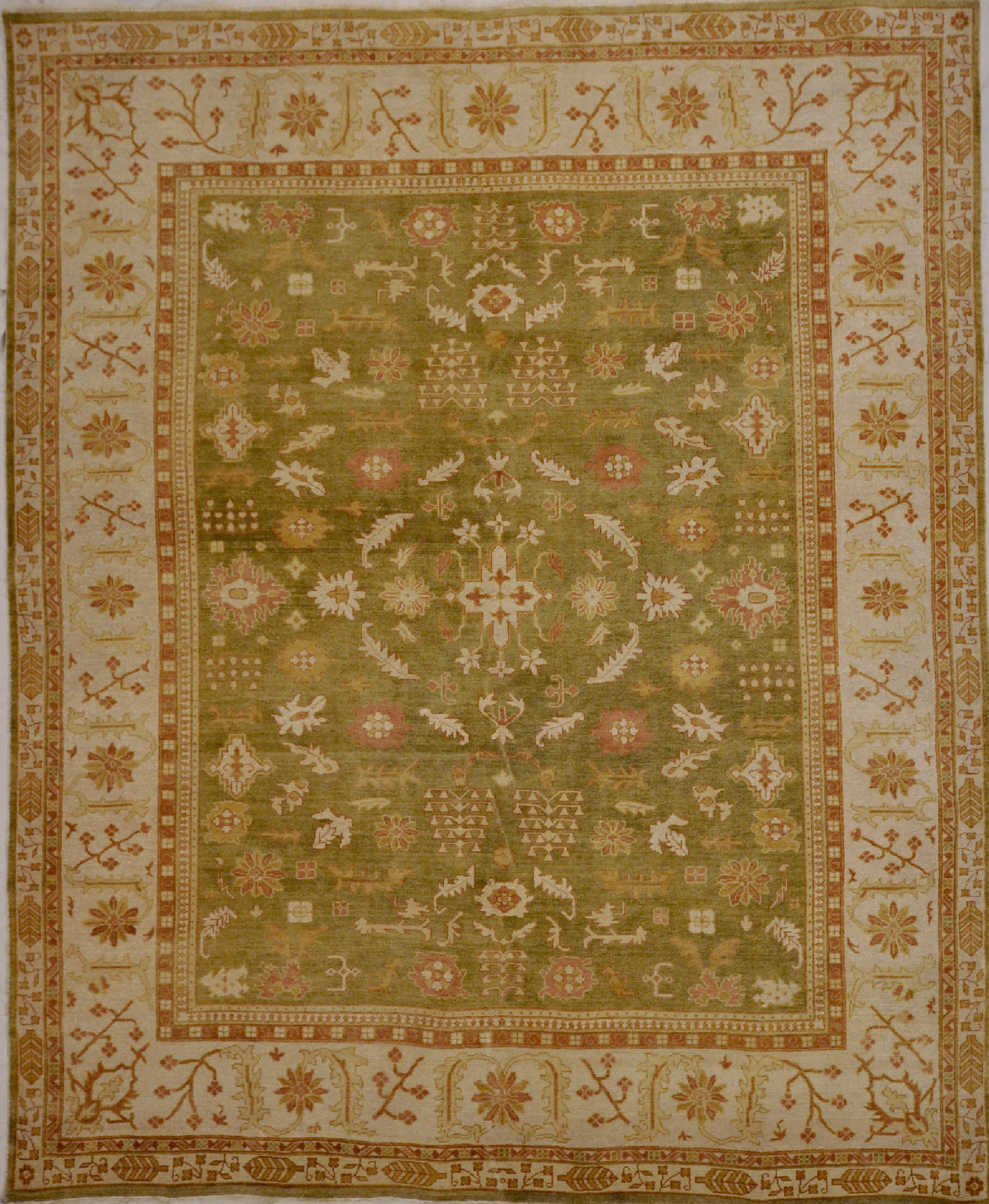 Antiqued Oushak rugs and more oriental carpet 29246-1