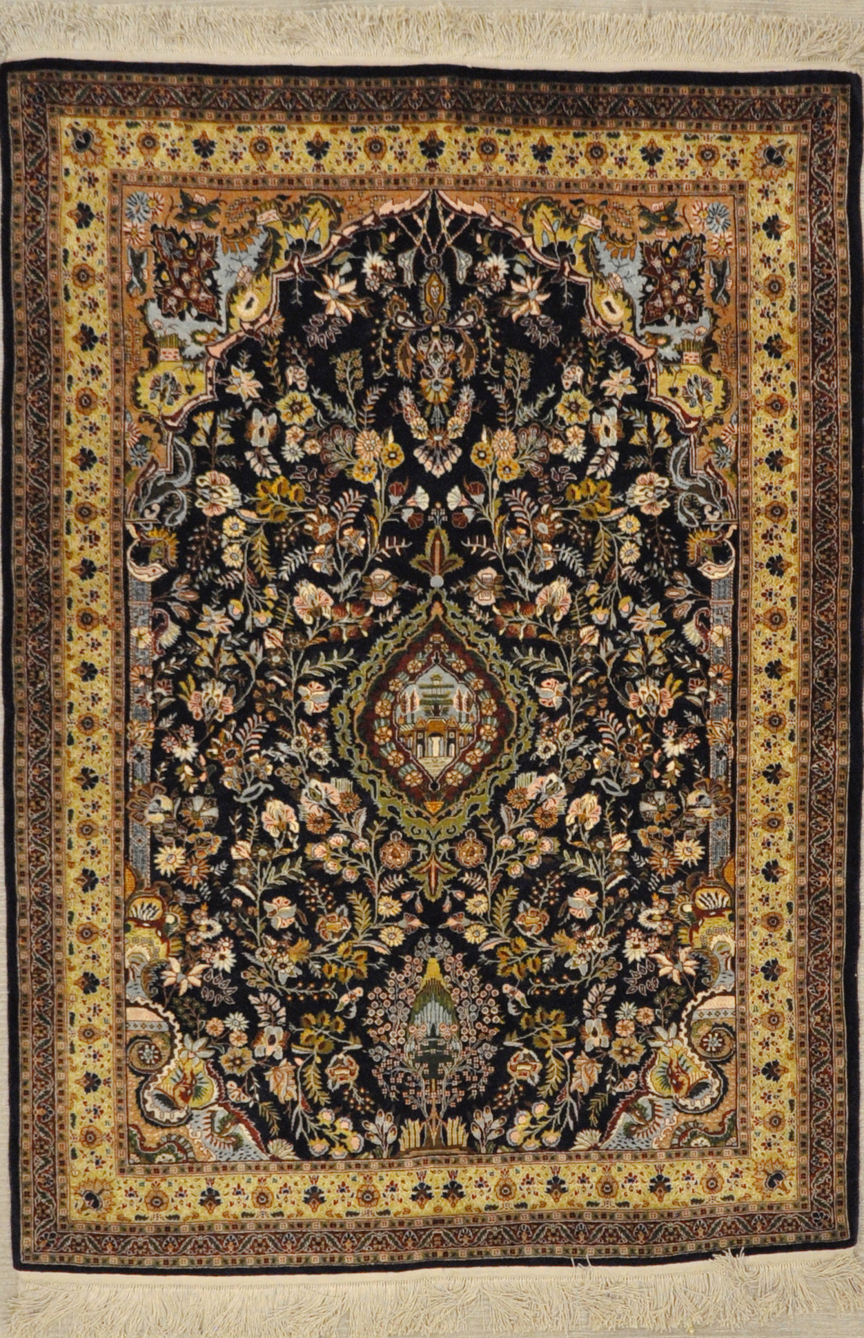 Turkish Silk Hereke rug santa barbara design center rugs and more oriental carpet