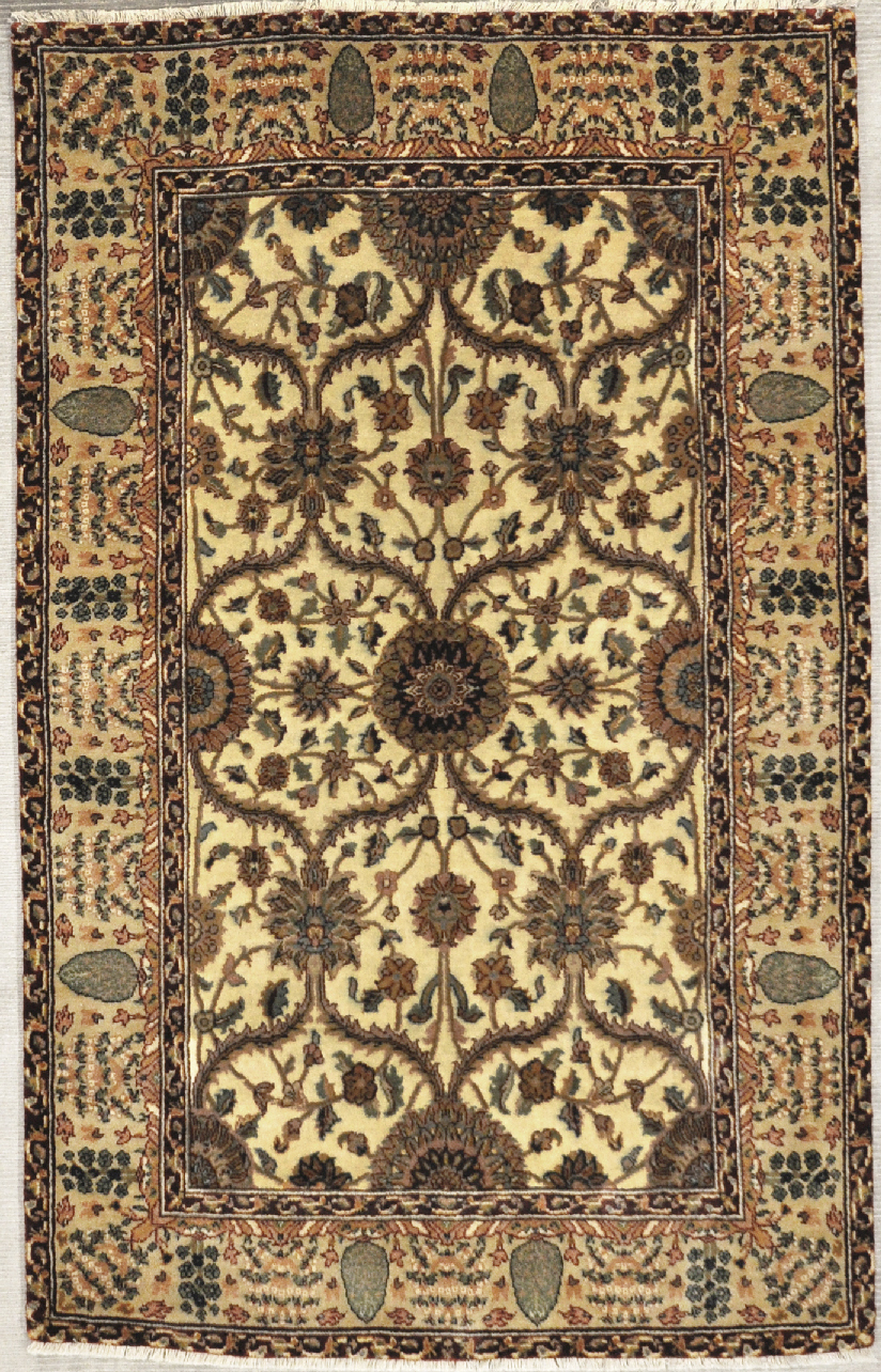 Silk mughal rug santa barbara design center rugs and more oriental carpet
