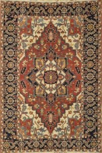 Fine Heriz Rug with Natural Dyes and Hand Spun Wool Santa Barbara Design Center Fine Rugs Hand Knotted long lasting easy to care. lowest price guaranteed.