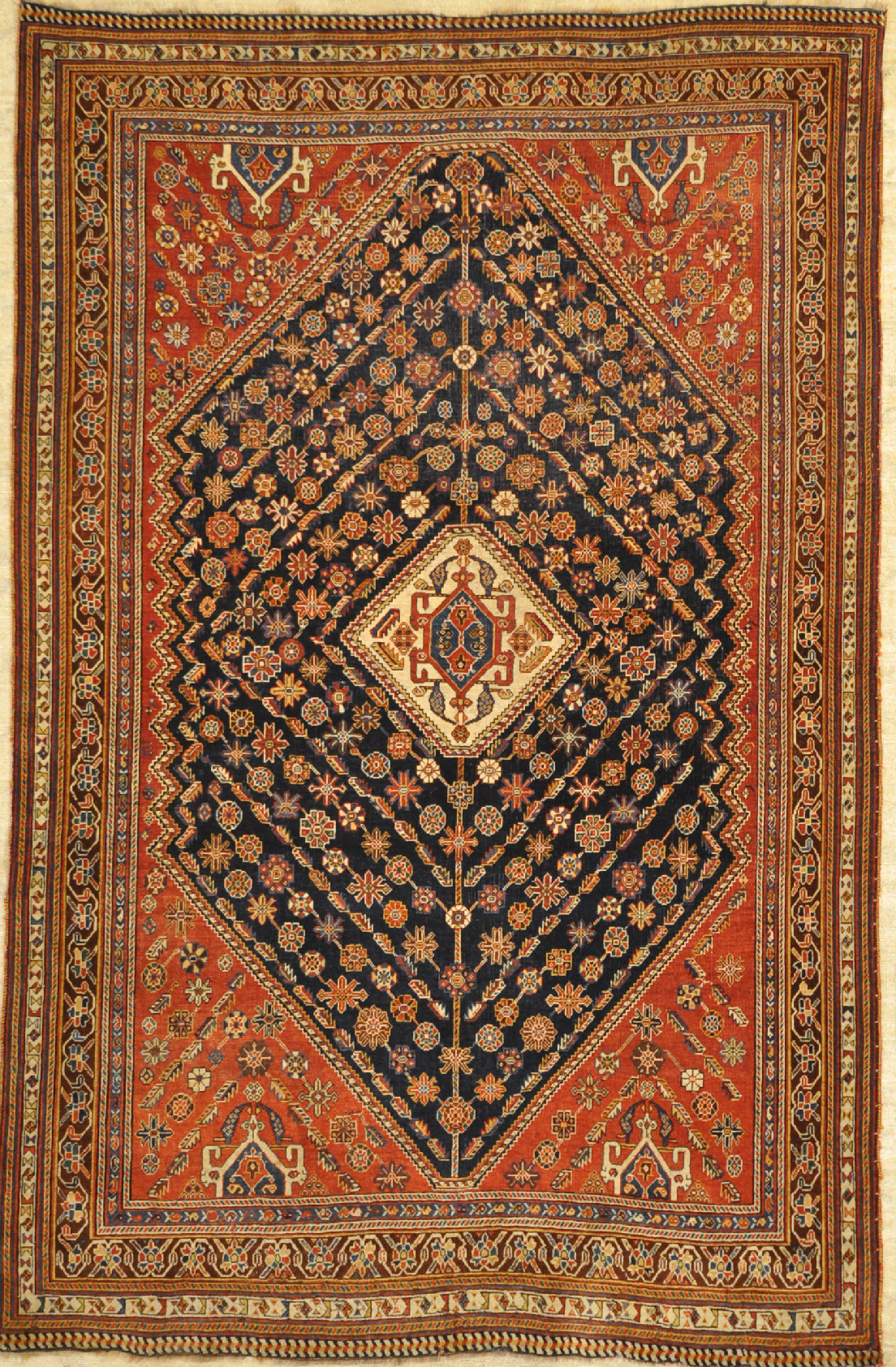 Finest Antique Kashkuli Qashgai Rug santa barbara design center 29841