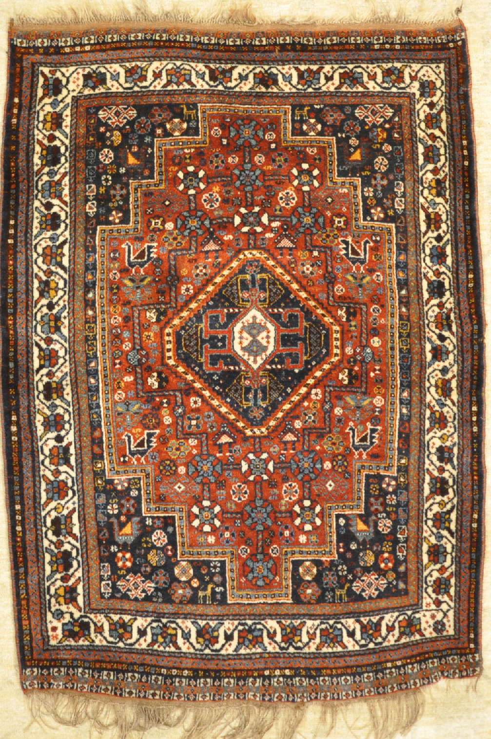 Fine Unique Antique Qashgai Rug santa barbara design center 29840