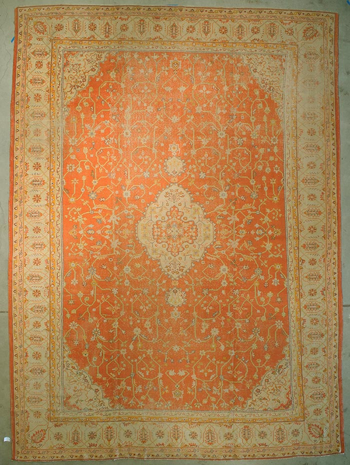 Antique Turkish Oushak rugs and more oriental carpet 43694-