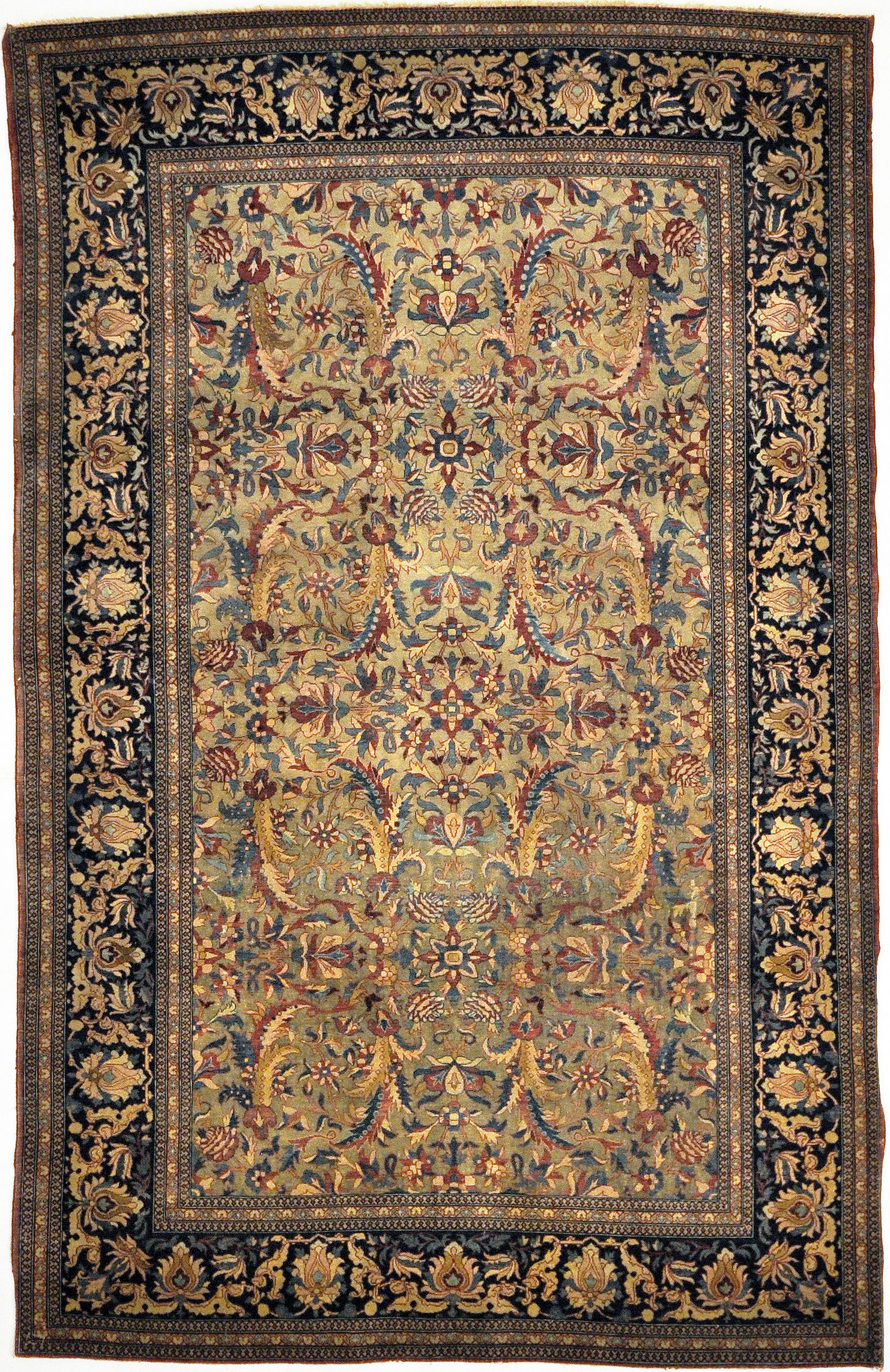 Antique Mohtashan Kashan Rug and More Santa Barbara Design Center Persian Carpet Authentic Woven Art Fine Knotted Manchester Wool