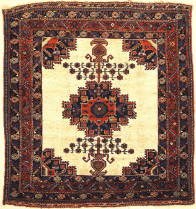 Rare Antique Persian Afshar Rug. A piece of genuine handwoven carpet art. Sold by Santa Barbara Design Center, Rugs and More.