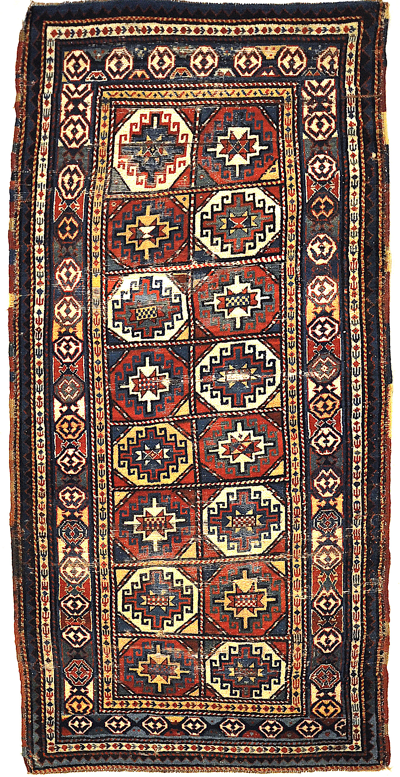 The finest antique Gendje rug. A piece of genuine Caucasian woven carpet art. Sold at Santa Barbara Design Center, Rugs and More.