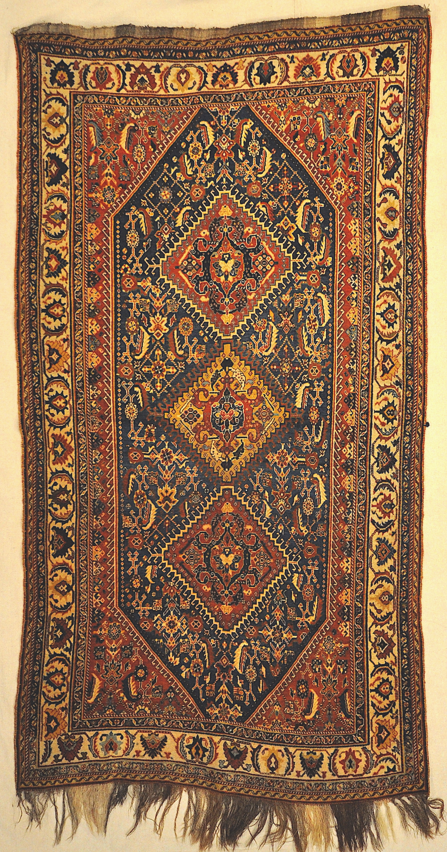 Antique Persian Qashqai Rug in Perfect Condition Genuine Authentic Woven Carpet Art Santa Barbara Design Center Rugs and More