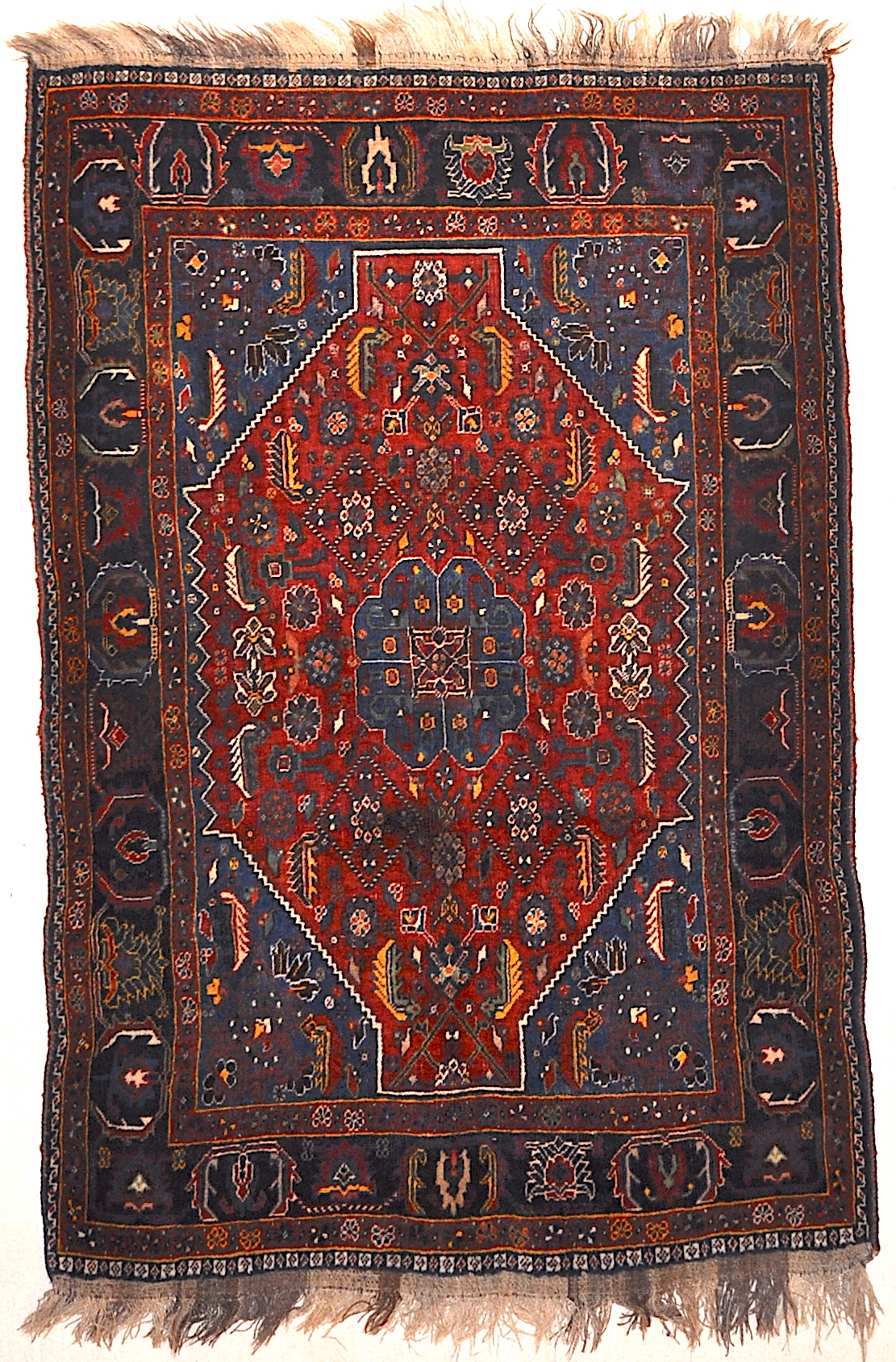 Antique Persian Qashqai Woven Circa 1900 Rug Genuine Authentic Intricate Woven Carpet Art Santa Barbara Design Center Rugs and More