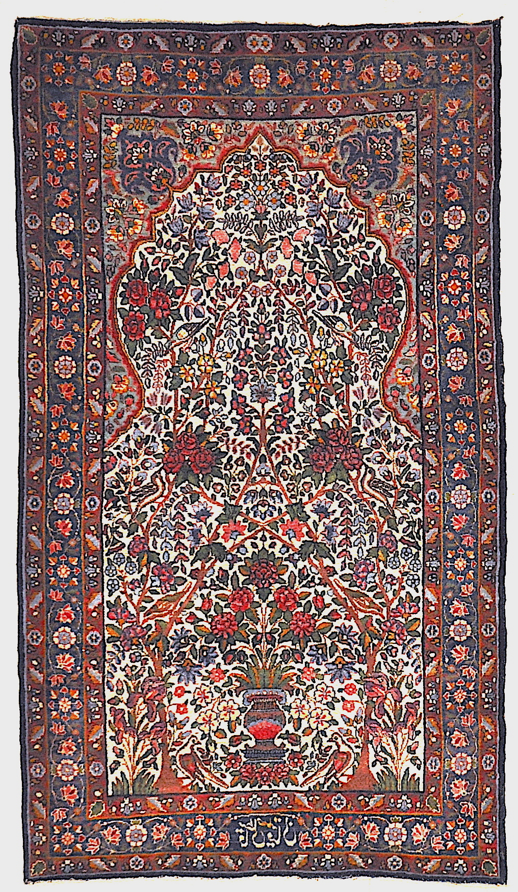 Antique Persian Garden of Paradise Kerman Rug Genuine Authentic Intricate Woven Carpet Art Santa Barbara Design Center Rugs and More