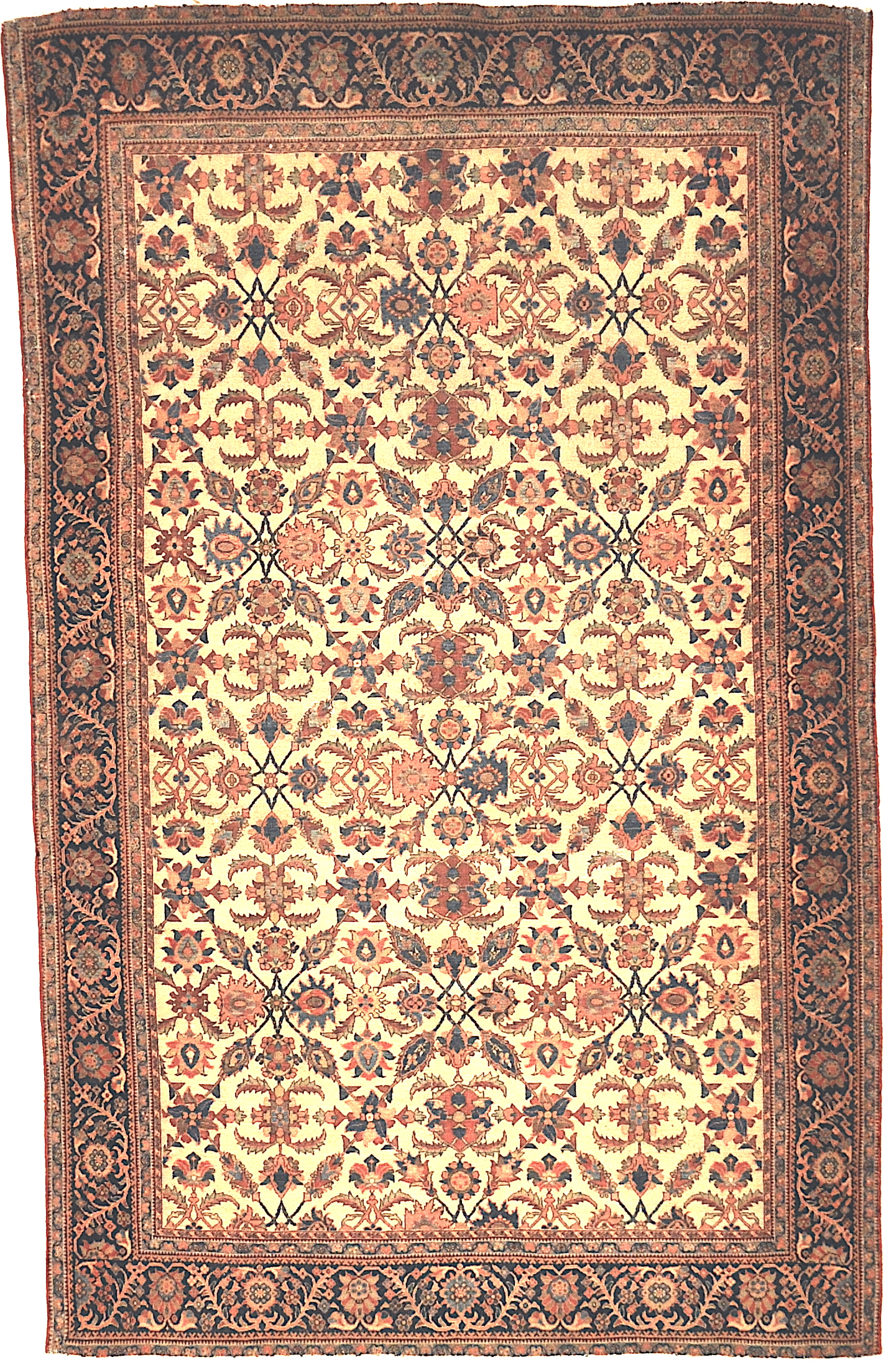 Extraordinarily Finely Knotted Exemplary Farahan Rug With a Classic Design Genuine Woven Carpet Art Santa Barbara Design Center Rugs and More