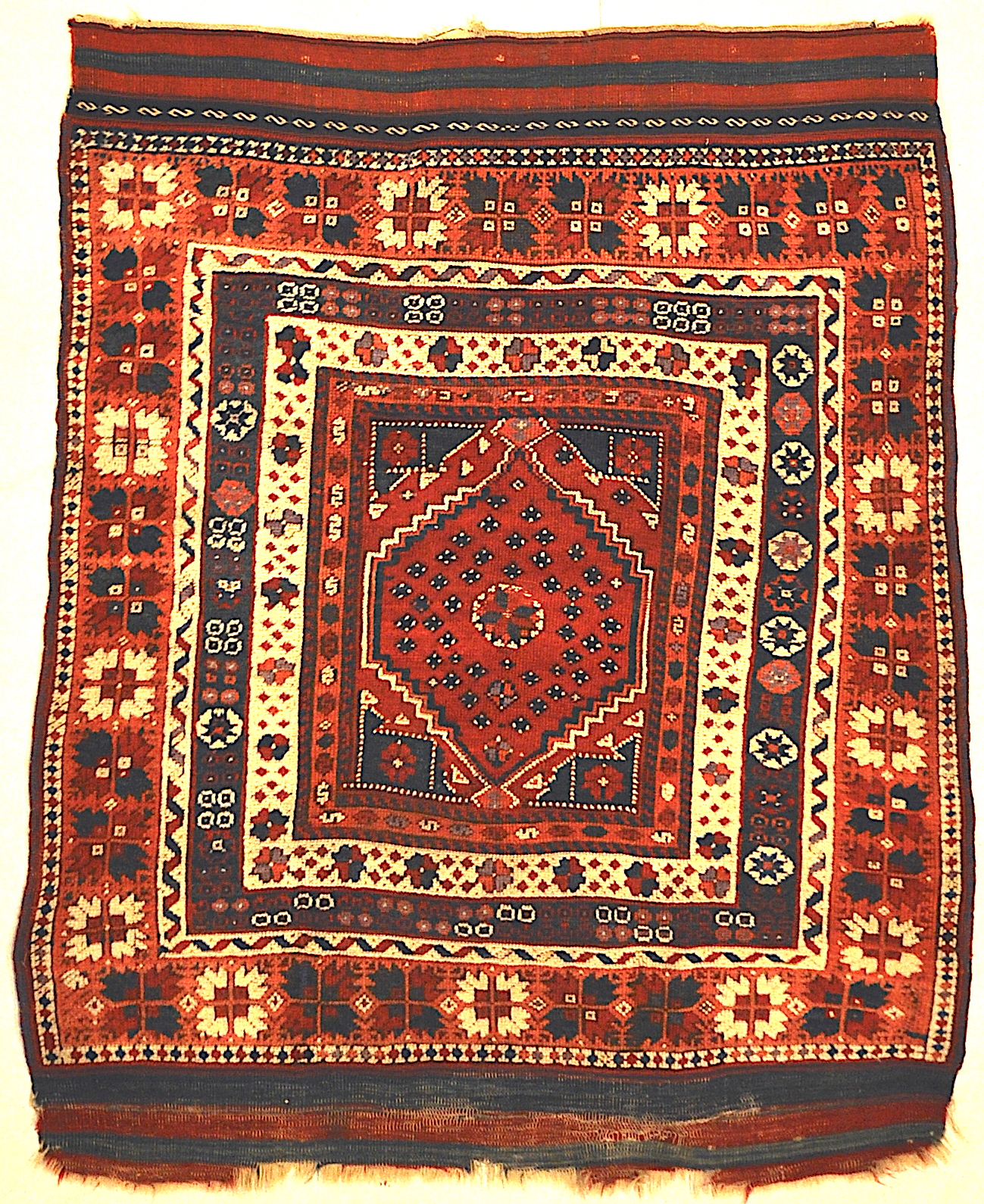 Antique Turkish Bergama Rug Woven Circa 1880 Genuine Authentic Woven Carpet Art Santa Barbara Design Center and Rugs and More