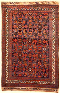 Antique Persian Afshar Herati Rug Genuine Authentic Intricate Woven Carpet Art Santa Barbara Design Center and Rugs and More